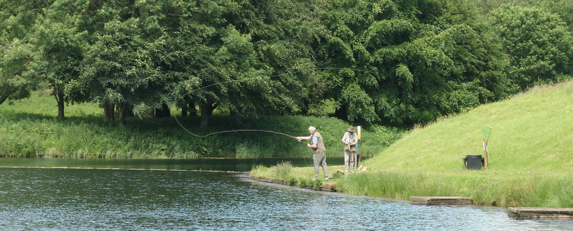 Fly fishing at the Green Frog. Moffat