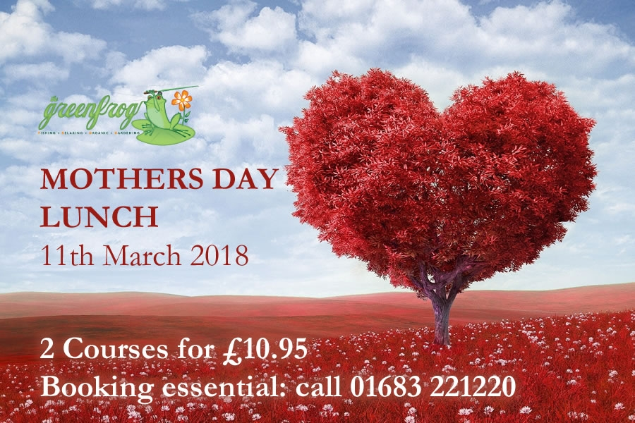 Mothers Day Lunch at the Green Frog, Moffat 11th March 2018