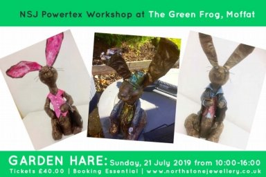 make a garden hare at the green frog moffat